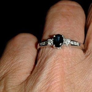 14k Sapphire n  Diamond Ring